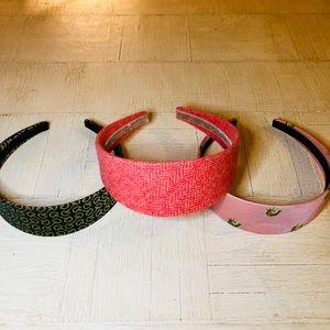 3 J. Crew Multi-Pack Headbands Wide